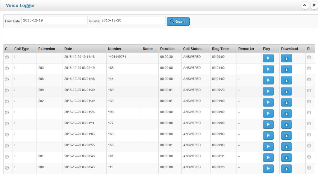 com1-pri-voice-logger-software-main-screen