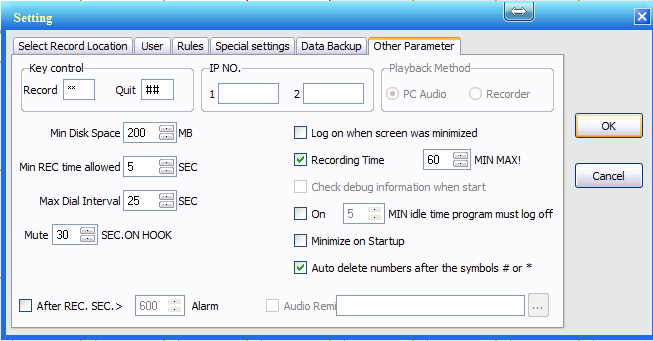 com1-voice-logger-installation-software-main-misc-settings